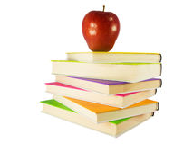 Apple in top of books Stock Photo