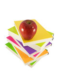 Apple in top of books Stock Images
