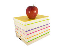 Apple in top of books Royalty Free Stock Images