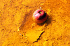 Apple in toxic water Royalty Free Stock Images
