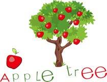 Apple träd med titel Arkivbild