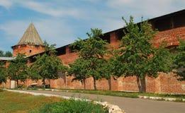 Apple trädgård i Zaraysk Kremlin Arkivbilder