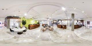 Apple trabalha o escritório vr de 360 graus fotos de stock royalty free