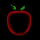 Apple (trasparenti rossi e blu dei raggi x 3D) Fotografie Stock