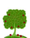 Apple tree. Illustrated abstract apple tree on white background vector illustration