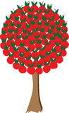 Apple tree 2. A illustration of an apple tree consists only of apples Royalty Free Stock Image