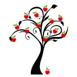 Apple Tree. Beautiful apple tree isolated on white background royalty free illustration