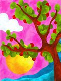 Apple tree. Abstract design with apple tree Royalty Free Stock Photo