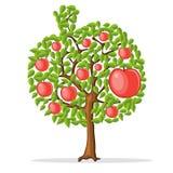 Apple tree vektor illustrationer