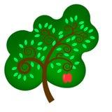 Apple tree. vektor illustrationer