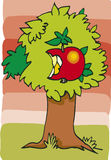 Apple on tree. Illustration of big apple on tree Stock Photography