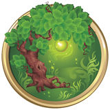 Apple-tree. Vector illustration of an ecological emblem with the apple-tree image Royalty Free Stock Image
