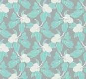 Apple tree blossom. Seamless pattern with apple tree branch Royalty Free Stock Photos