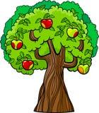 Apple tree cartoon illustration Royalty Free Stock Images