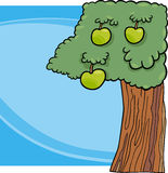 Apple tree cartoon illustration Royalty Free Stock Images