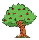 Apple tree cartoon illustration Royalty Free Stock Photography
