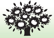 Apple tree drawing. Hand drawn Abstract illustration of an  apple tree Royalty Free Stock Image