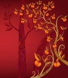Apple tree illustration Stock Image