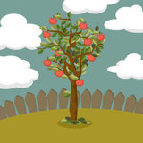 Apple tree illustration Royalty Free Stock Photos