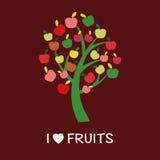 Apple Tree - Illustration - Illustration Stock Image