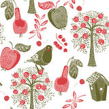 Apple tree pattern Stock Images