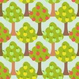 Apple tree seamless pattern. Orchard background. Apple tree seamless pattern.  Orchard background Stock Photos