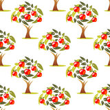 Apple tree seamless pattern Stock Photography
