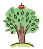Apple tree symbol Stock Photos