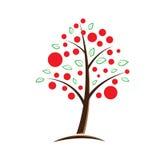 Apple tree symbolic illustration. Apple tree symbolic vector illustration Royalty Free Stock Images
