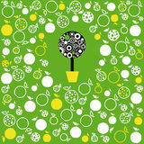 Apple tree. Vector background of the apple tree Royalty Free Stock Photography
