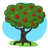 Apple Treeillustration Arkivbilder