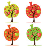 Apple treeset vektor illustrationer