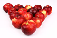 Apple triangle Royalty Free Stock Images