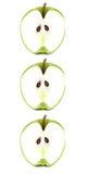 Apple trio. Royalty Free Stock Photo