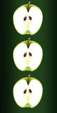 Apple trio. Stock Photos