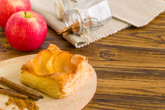 Apple Turnover Background / Apple Turnover / Homemade Apple Turnover Background Stock Image