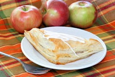 Apple turnover with fresh apples Stock Images
