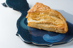 Apple turnover pastry on platter Royalty Free Stock Image