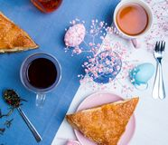 Apple turnovers with Easter egg decoration Royalty Free Stock Photography
