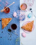 Apple turnovers with Easter egg decoration Stock Image