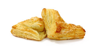 Apple turnovers on white background Royalty Free Stock Photo