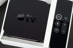 Apple TV 4K Foto de archivo libre de regalías