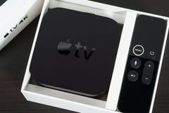 Apple TV 4K Imagen de archivo libre de regalías