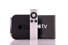 Apple TV Remote Control Stock Photos