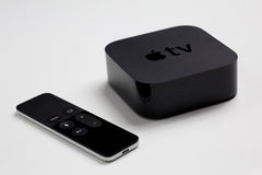 Apple TV 4th generation with remote Stock Image