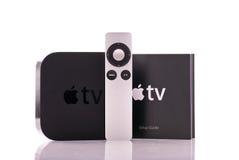 Apple TV à télécommande Photos stock