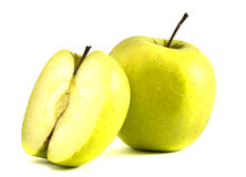 Apple. Two apples on a white background Royalty Free Stock Image