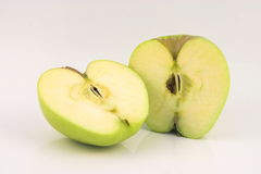 Apple two slices Stock Photography