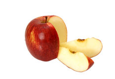 Apple with two slices Royalty Free Stock Photography