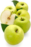 Apple u. gesunde Ernährung lizenzfreie stockbilder
